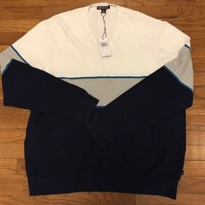New$149 Michael Kors V-Neck Sweater 3XL Blue